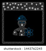bright mesh atomic engineer... | Shutterstock .eps vector #1443762245