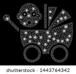 bright mesh baby carriage with... | Shutterstock .eps vector #1443764342