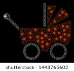 bright mesh baby carriage with... | Shutterstock .eps vector #1443765602