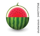 watermelon sliced vector... | Shutterstock .eps vector #1443773768