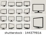tv and monitor web vector icons ...