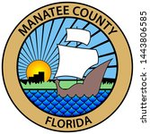coat of arms of manatee county... | Shutterstock .eps vector #1443806585