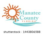 coat of arms of manatee county... | Shutterstock .eps vector #1443806588