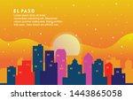 el paso texas city building... | Shutterstock .eps vector #1443865058