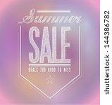 pinks summer sale poster sign... | Shutterstock . vector #144386782
