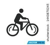 bicycle icon vector design... | Shutterstock .eps vector #1443870245