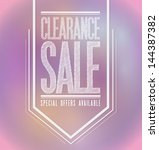 pink lights clearance sale... | Shutterstock . vector #144387382