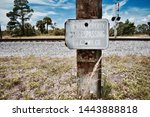 No Trespassing Sign By Railroad ...
