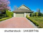 double doors garage with nicely ... | Shutterstock . vector #144389746