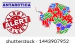sign mosaic antarctica... | Shutterstock .eps vector #1443907952