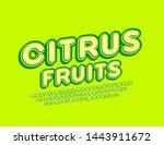 vector bright emblem citrus... | Shutterstock .eps vector #1443911672