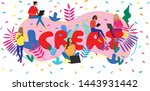 vector business illustration of ... | Shutterstock .eps vector #1443931442