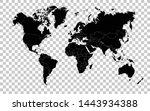 hi detail black vector... | Shutterstock .eps vector #1443934388