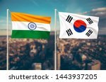 relationship between india and... | Shutterstock . vector #1443937205