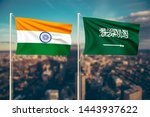 relationship between india and... | Shutterstock . vector #1443937622