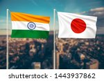 relationship between india and... | Shutterstock . vector #1443937862