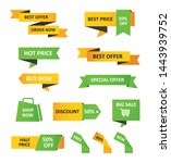 set of sale tags and labels ... | Shutterstock .eps vector #1443939752
