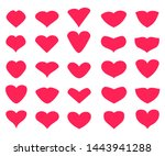 """""""set of red heart vector icons... 