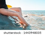 female legs with varicose veins.... | Shutterstock . vector #1443948035