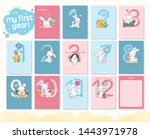 vector baby shower design...   Shutterstock .eps vector #1443971978