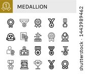 set of medallion icons such as... | Shutterstock .eps vector #1443989462