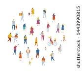 crowd of people arranged in... | Shutterstock .eps vector #1443990815