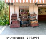 old trunks and cases on platform | Shutterstock . vector #1443995