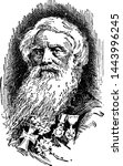 samuel morse  vintage engraved... | Shutterstock .eps vector #1443996245