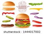 burger maker constructor.... | Shutterstock .eps vector #1444017002