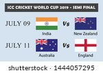 icc cricket world cup 2019 semi ... | Shutterstock .eps vector #1444057295