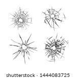 broken glass.  set of  cracked... | Shutterstock .eps vector #1444083725