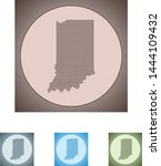 vector map of the indiana | Shutterstock .eps vector #1444109432