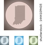 vector map of the indiana | Shutterstock .eps vector #1444109435