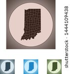 vector map of the indiana | Shutterstock .eps vector #1444109438