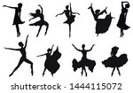 Dancers Silhouettes   Set Of...