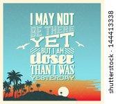 retro vintage summer poster... | Shutterstock .eps vector #144413338