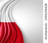 Stock photo poland flag of silk with copyspace for your text or images and white background d illustration 1444156628