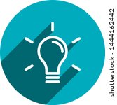 light bulb flat icon vector...