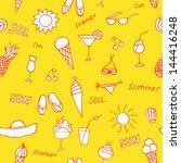 summer seamless pattern sun sets | Shutterstock .eps vector #144416248