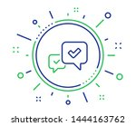 approve line icon. accepted or... | Shutterstock .eps vector #1444163762