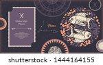 zodiac sign pisces. the symbol... | Shutterstock .eps vector #1444164155
