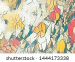 colorful gradient color... | Shutterstock . vector #1444173338