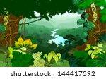 Vector River In Jungle...