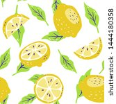 background with fresh yellow... | Shutterstock .eps vector #1444180358