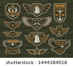 vintage armed forces insignias... | Shutterstock .eps vector #1444184018