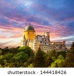 fairy palace against sunset sky ...   Shutterstock . vector #144418426