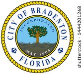 coat of arms of bradenton is a... | Shutterstock .eps vector #1444201268