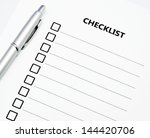 close up checklist and pen | Shutterstock . vector #144420706
