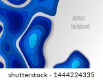 paper cut out background.... | Shutterstock .eps vector #1444224335