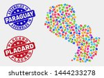 component paraguay map and blue ... | Shutterstock .eps vector #1444233278